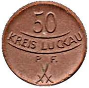 50 Pfennig (Luckau) [Stadt, Brandenburg] – revers