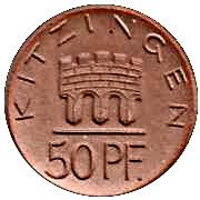 50 Pfennig (Kitzingen)[Stadt, Bayern] – avers