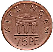 75 Pfennig (Kitzingen)[Stadt, Bayern] – avers