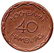 40 Pfennig (Hochbahn Transit)[Stadt, Hamburg] – avers