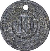10 Pfennig Sinsheim [Stadt, Baden] – revers