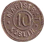 10 Pfennig (Köslin) [Stadt] – avers