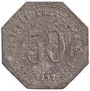 50 Pfennig (Laufen) [Kommunalverband, Bayern] – revers