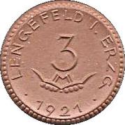3 Mark (Lengefeld im Erzgebirge {Private, Sachsen, Wittig & Schwabe Metallwaren Fabrik] – avers