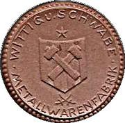3 Mark (Lengefeld im Erzgebirge {Private, Sachsen, Wittig & Schwabe Metallwaren Fabrik] – revers