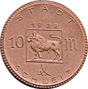 10 Mark (Schleiz)[Stadt, Reuß jüngerer Linie, Thuringia] – avers