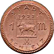 1 Mark (Schleiz)[[Stadt, Reuß jüngerer Linie, Thuringia] – avers