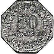 50 Pfennig (Langerfeld) [Private, Rheinprovinz, Alb. & E. Henkels] – avers