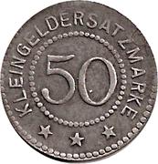 50 Pfennig (Crossen) [Stadt, Brandenburg] – revers