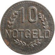 10 pfennig (Wiesbaden) – revers