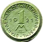 1 Mark (Waldenburg)[Stadt Gemeinde] – revers