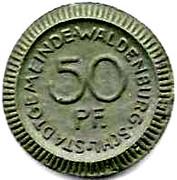 50 Pfennig (Waldenburg)[Statd Gemeinde] – revers