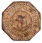 5 Pfennig (Frauenau) [Private, Bayern, Krystallglasfabrik] – avers