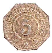 5 Pfennig (Frauenau) [Private, Bayern, Krystallglasfabrik] – revers