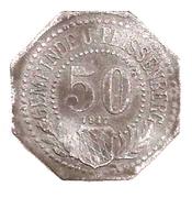 50 Pfennig (Unter Peissenberg) [Stadt, Bayern] – avers