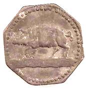 10 Pfennig (Eberbach) [Stadt, Württemberg] – revers