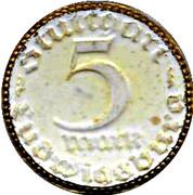 5 Mark (Stuttgart)[Stadt Baden-Wurttemberg] – revers