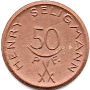 50 Pfennig Hannover [Stadt Saxony] – revers
