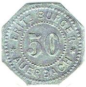 50 pfennig - Fritz Burger - AUERBACH (Bayern) – avers
