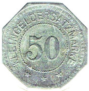 50 pfennig - Fritz Burger - AUERBACH (Bayern) – revers