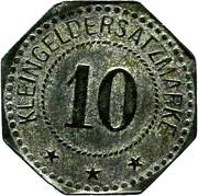 10 Pfennig (Magdeburg-Buckau)  [Private, Provinz Sachsen, Fried. Krupp AG Grusonwerk] – revers