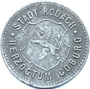 50 Pfennig (Rodach) [Stadt, Sachsen-Coburg] – avers