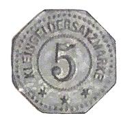 5 Pfennig (Dalsheim) [Private, Palatinate, Philipp Merkel Möbelfabrik] – revers