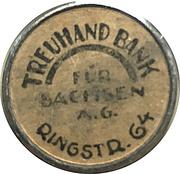 20 Pfennig (Dresden) [Strassenbahn, Saxony] Treuhand Bank – revers