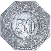 50 Pfennig (Sagan) [Stadt, Schlesien] – revers
