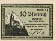 10 Pfennig (Weida) – avers