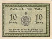 10 Pfennig (Weida) – revers