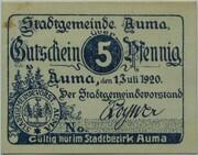 5 Pfennig (Auma) – avers