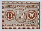 10 Pfennig (Rauenstein) – avers