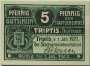 5 Pfennig (Triptis) – avers