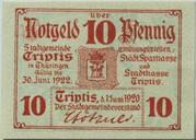 10 Pfennig (Triptis) – avers
