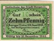 10 Pfennig (Berga an der Elster) – revers