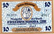 10 Pfennig (Friedrichroda) – avers