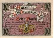 10 Pfennig (Orlamünde) – avers