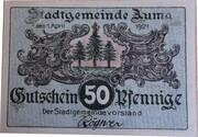 50 PFENNIGE  ( AUMA ) -  avers