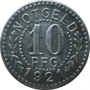 10 Pfennig - Consum Verein (Gosswitz) -  revers