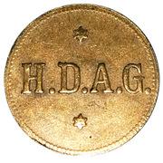 1 Faehrmarke (HDAG Harbour Steamship) token – avers
