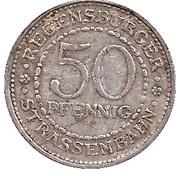 50 Pfennig (Regensburgburg) [Strassenbahn, Bayern] – revers