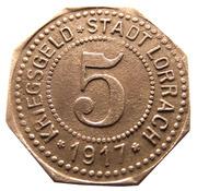 5 pfennig (Lörrach) – avers