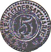 5  Pfennig - Sarre - Union (Saar-Buckenheim) [67] – revers