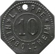 10 pfennig - Herbolzheim (L. Heppe) – avers