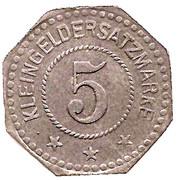 5 Pfennig - Algringen (Algrange, 57) – revers