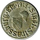 5 Pfennig -  Kriegsgeld - (Strassburg) Strasbourg [67] – avers