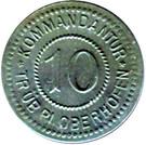 10 Pfennig - Kommandantur Trüb pl - Oberhoffen [67] – avers