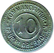 10 pfennig - Oberhofen (Kommandantur)  – avers