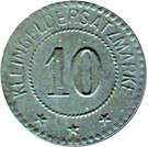 10 Pfennig - Kommandantur Trüb pl - Oberhoffen [67] – revers